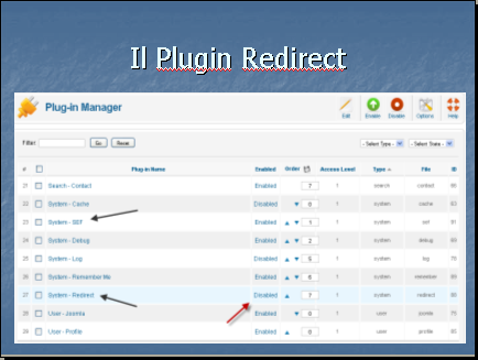 Plugin redirect
