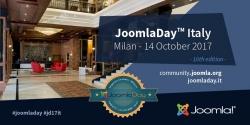 Il JoomlaDay 2017 a Milano il 14 ottobre